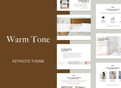 Business Models: Warm Tone Keynote Presentation Template #04955