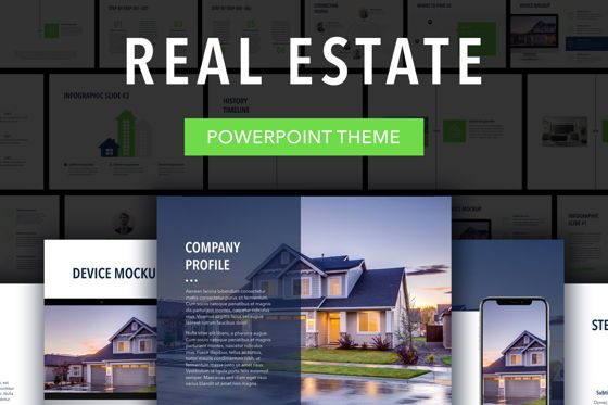 Presentation Templates: Real Estate PowerPoint Template #04956