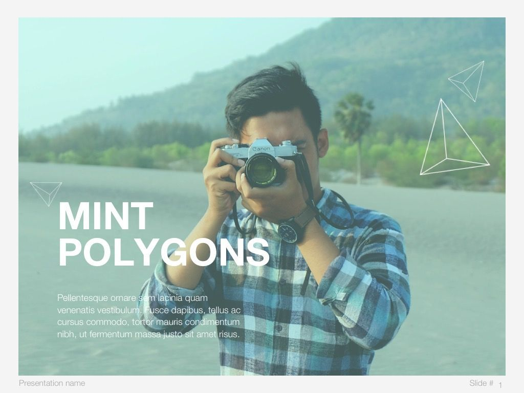 Mint Polygons Google Slides, Slide 2, 04957, Presentation Templates — PoweredTemplate.com