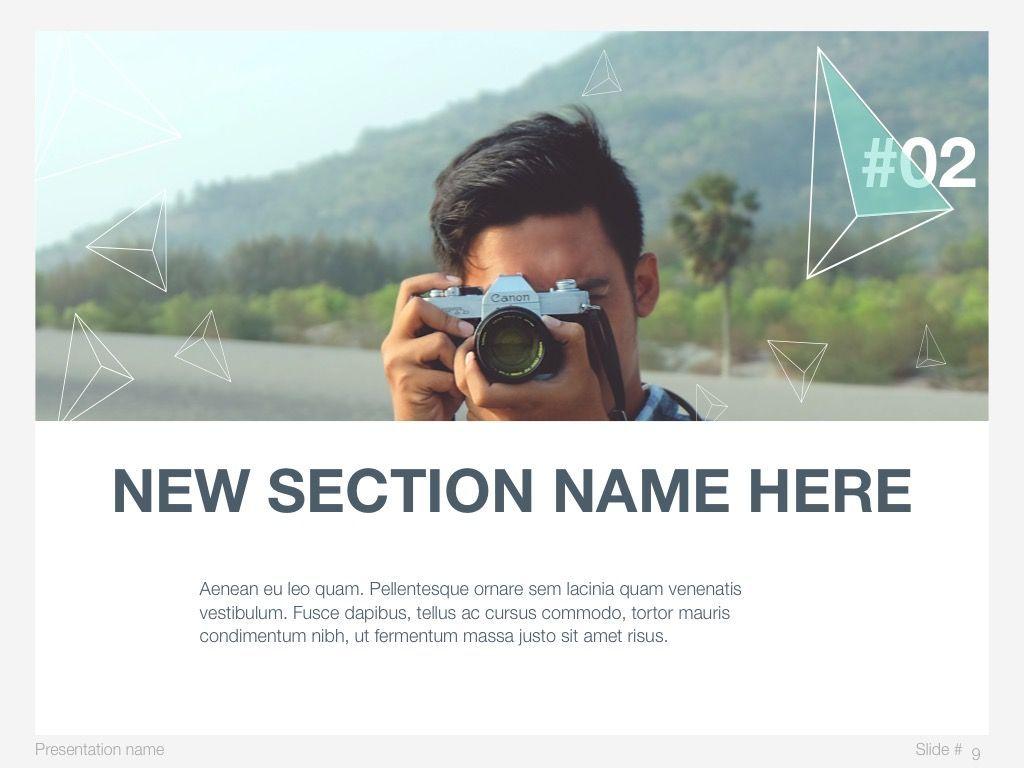 Mint Polygons Google Slides, Slide 9, 04957, Presentation Templates — PoweredTemplate.com