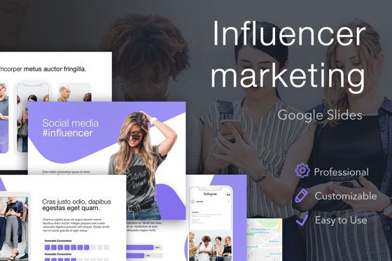 Presentation Templates: Influencer Marketing Google Slides Theme #04959