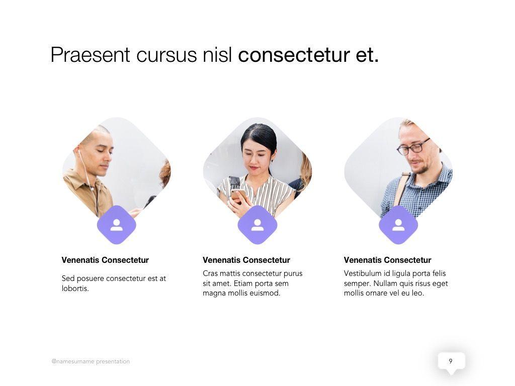 Influencer Marketing Google Slides Theme, Slide 10, 04959, Presentation Templates — PoweredTemplate.com