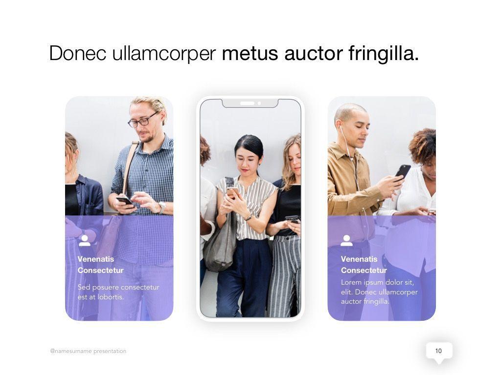 Influencer Marketing Google Slides Theme, Slide 11, 04959, Presentation Templates — PoweredTemplate.com