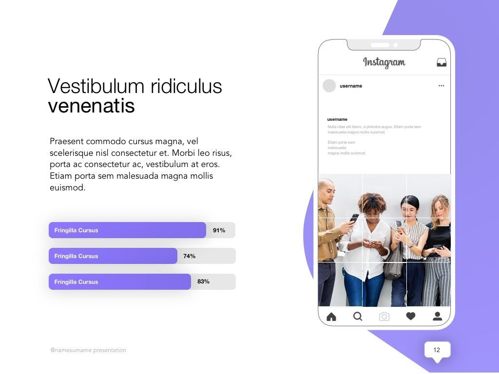 Influencer Marketing Google Slides Theme, Slide 13, 04959, Presentation Templates — PoweredTemplate.com