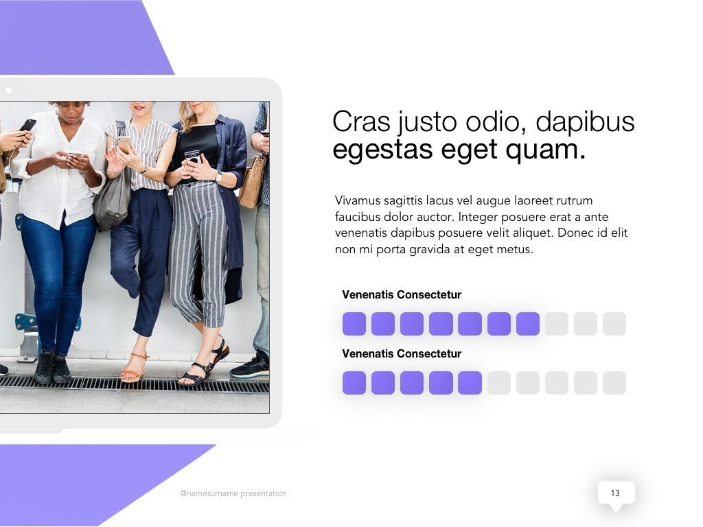 Influencer Marketing Google Slides Theme, Slide 14, 04959, Presentation Templates — PoweredTemplate.com