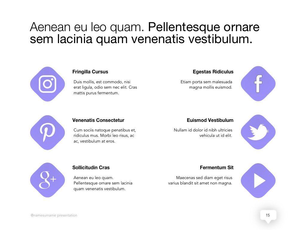 Influencer Marketing Google Slides Theme, Slide 16, 04959, Presentation Templates — PoweredTemplate.com