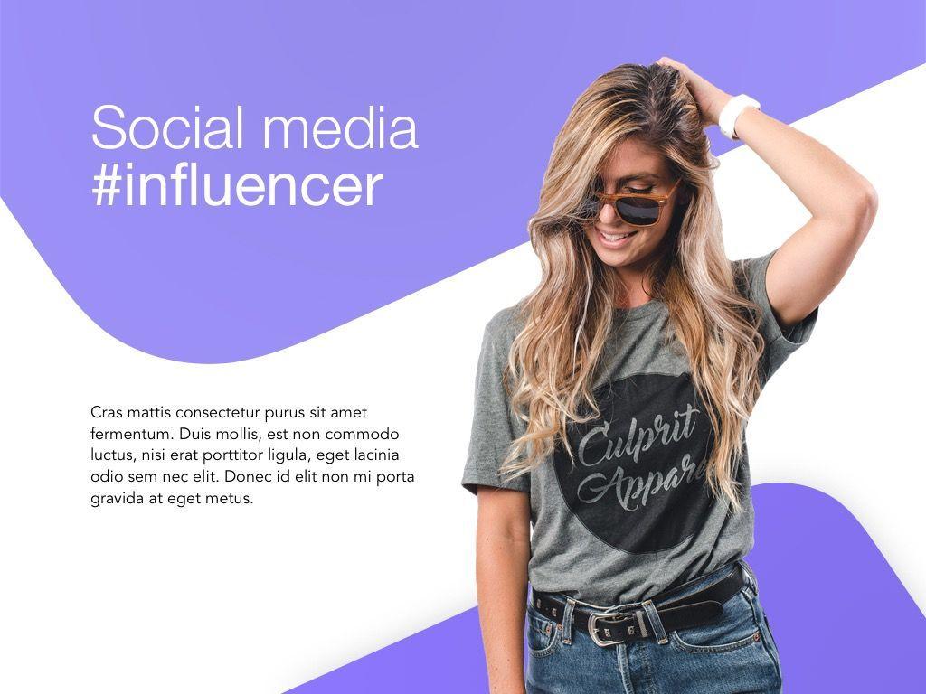 Influencer Marketing Google Slides Theme, Slide 2, 04959, Presentation Templates — PoweredTemplate.com