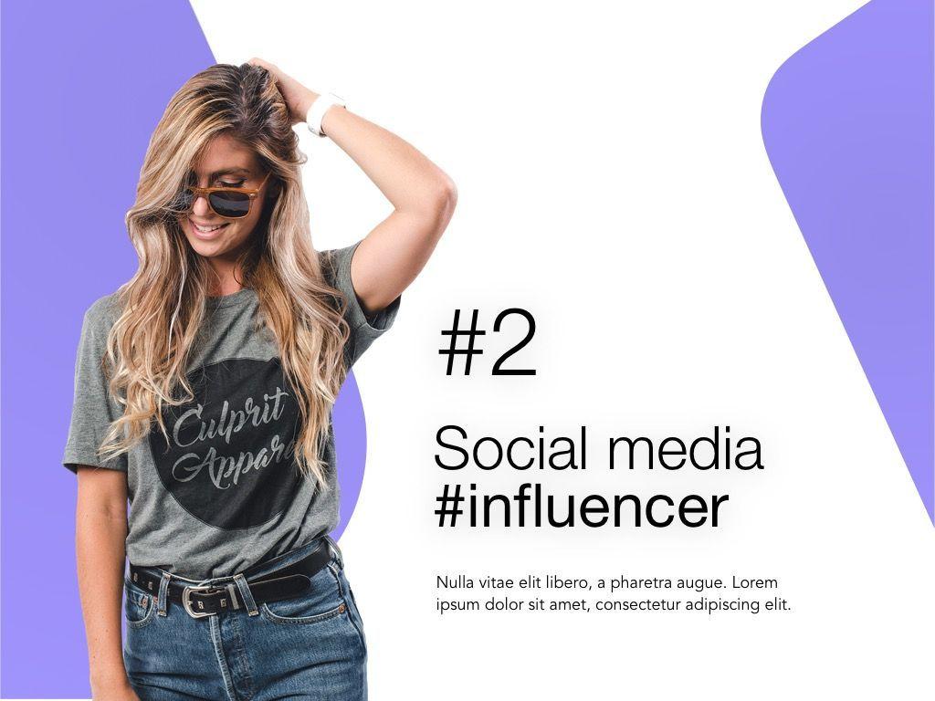 Influencer Marketing Google Slides Theme, Slide 3, 04959, Presentation Templates — PoweredTemplate.com