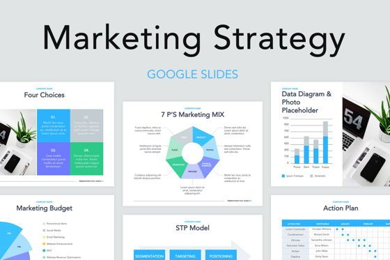 Business Models: Marketing Strategy Google Slides Theme #04960