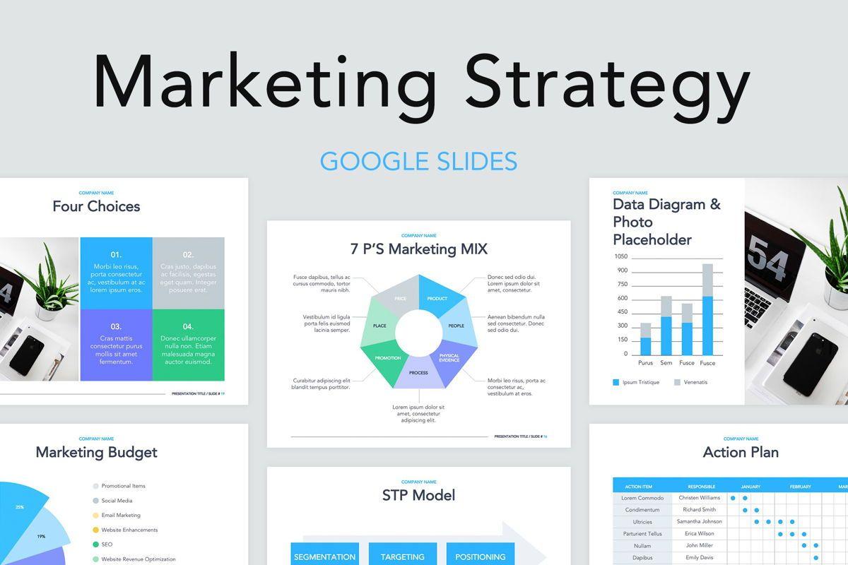 Marketing Strategy Google Slides Theme Presentation Template 70292