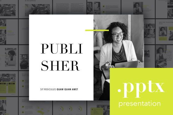 Presentation Templates: Publisher PowerPoint Template #04961