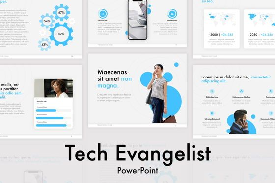 Presentation Templates: Tech Evangelist PowerPoint Template #04962