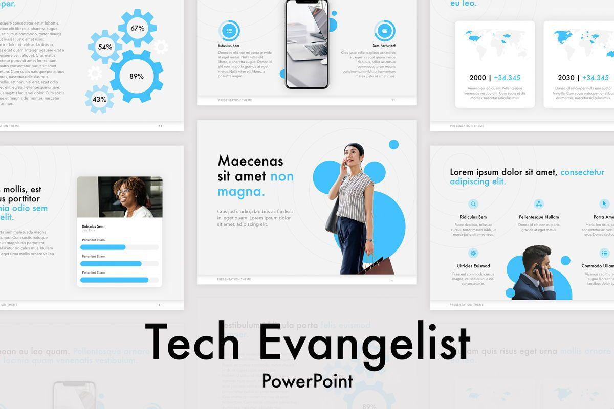 Tech Evangelist PowerPoint Template, 04962, Presentation Templates — PoweredTemplate.com