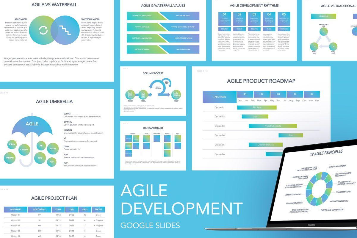 Agile Development Google Slides Theme, 04963, Business Models — PoweredTemplate.com