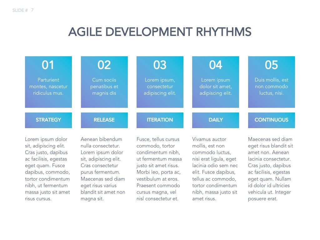Agile Development Google Slides Theme, Slide 8, 04963, Business Models — PoweredTemplate.com