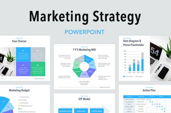 Presentation Templates: Marketing Strategy PowerPoint Template #04964