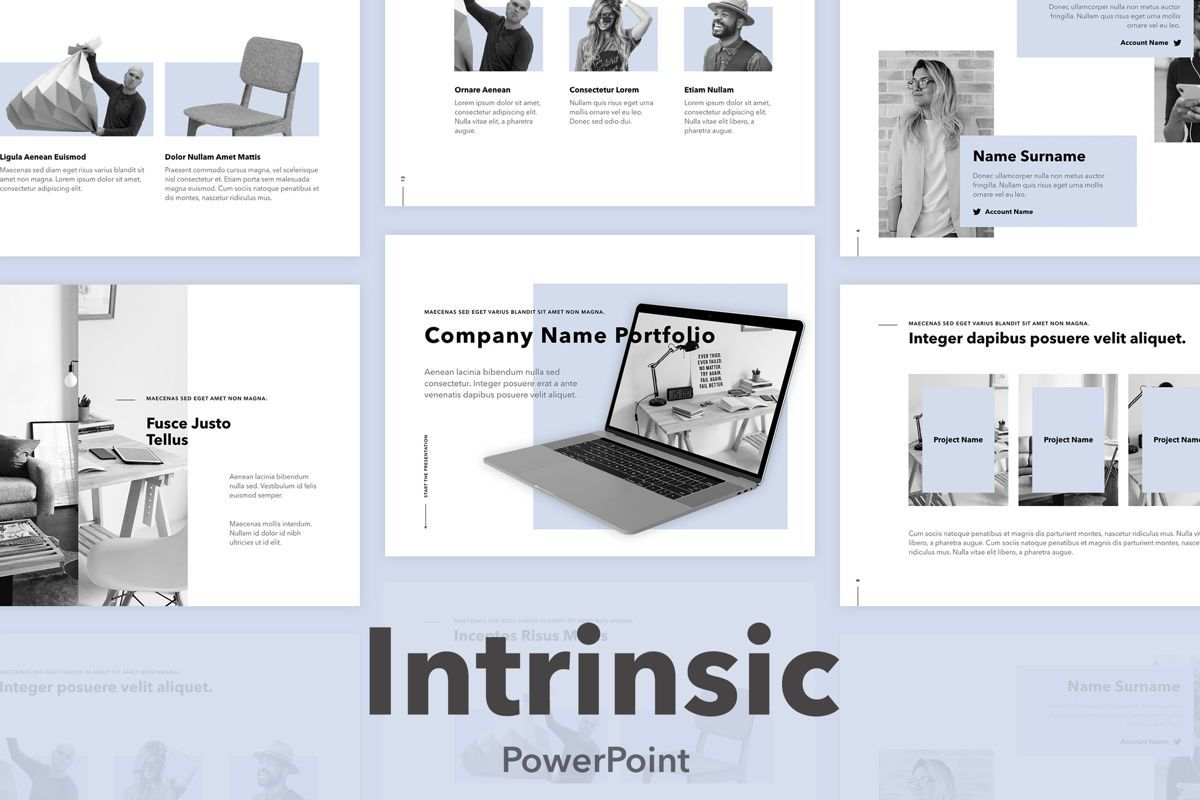 Intrinsic PowerPoint Template, 04965, Presentation Templates — PoweredTemplate.com