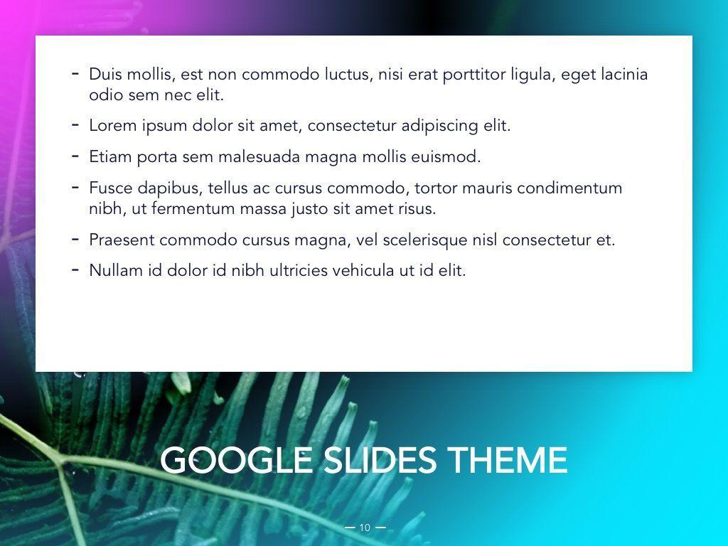 Vivid Google Slides Theme, Slide 11, 04967, Presentation Templates — PoweredTemplate.com