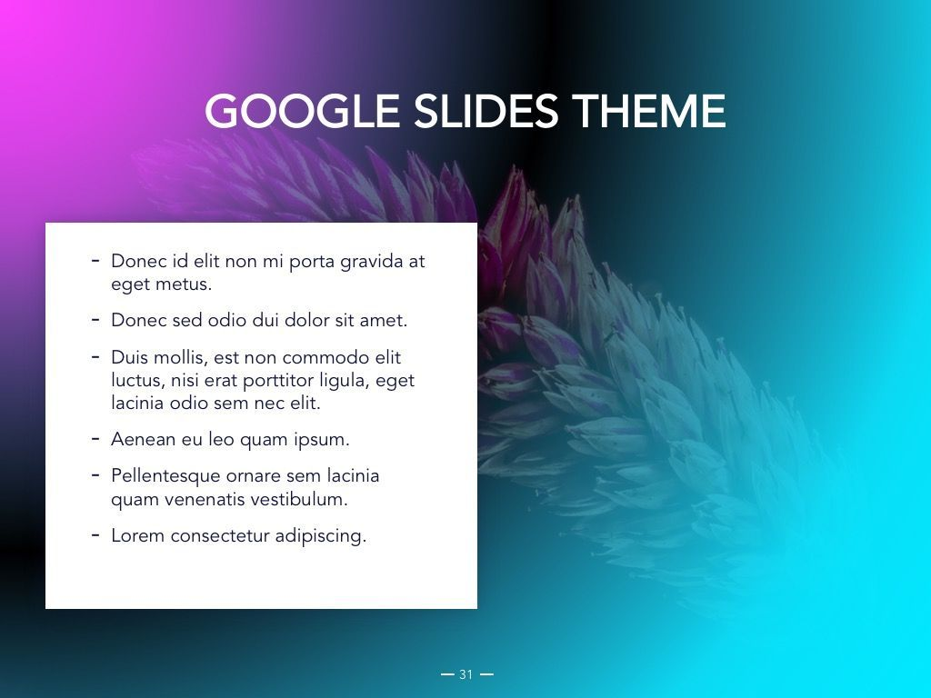 Vivid Google Slides Theme, Slide 32, 04967, Presentation Templates — PoweredTemplate.com