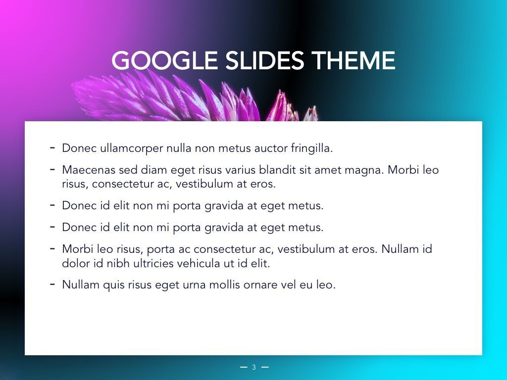 Vivid Google Slides Theme, Slide 4, 04967, Presentation Templates — PoweredTemplate.com