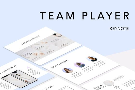 Presentation Templates: Team Player Keynote Template #04968