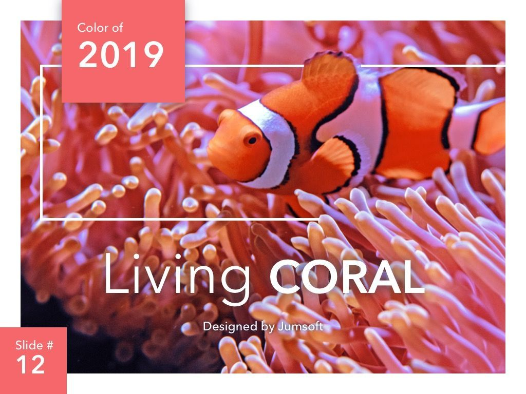 Living Coral PowerPoint Theme, Slide 13, 04969, Presentation Templates — PoweredTemplate.com