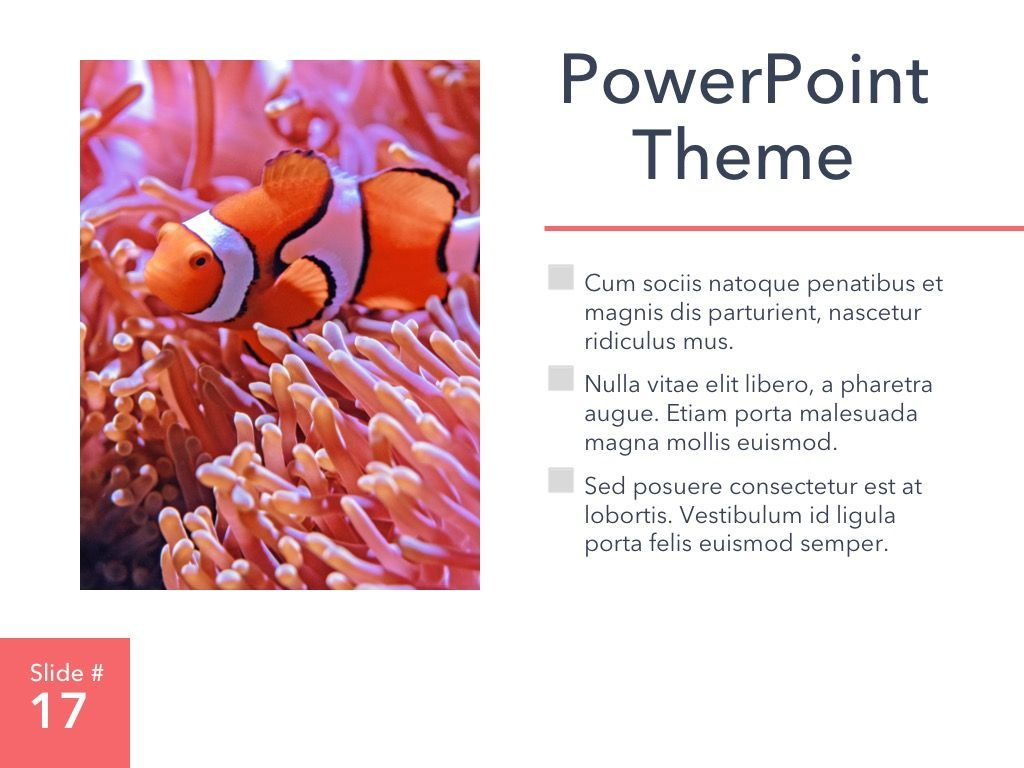Living Coral PowerPoint Theme, Slide 18, 04969, Presentation Templates — PoweredTemplate.com