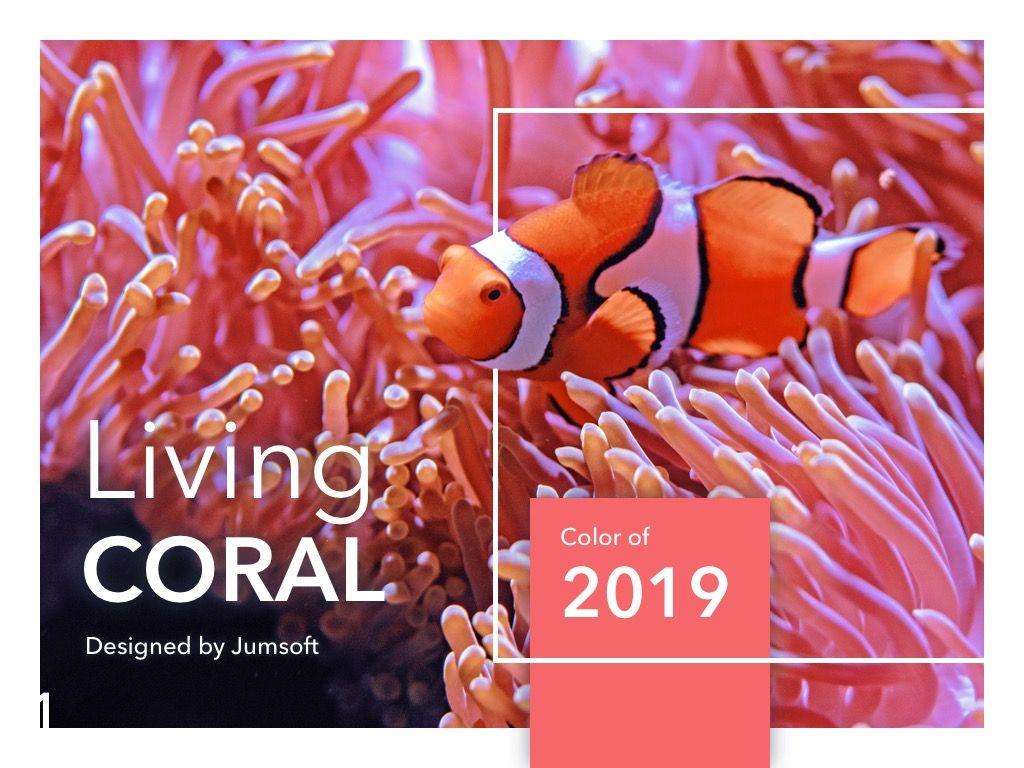 Living Coral PowerPoint Theme, Slide 2, 04969, Presentation Templates — PoweredTemplate.com