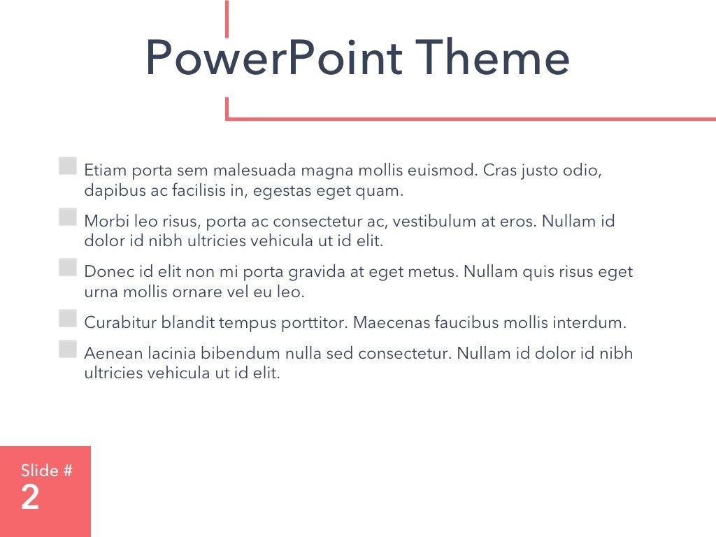 Living Coral PowerPoint Theme, Slide 3, 04969, Presentation Templates — PoweredTemplate.com