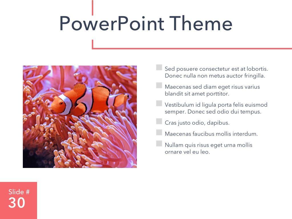 Living Coral PowerPoint Theme, Slide 31, 04969, Presentation Templates — PoweredTemplate.com