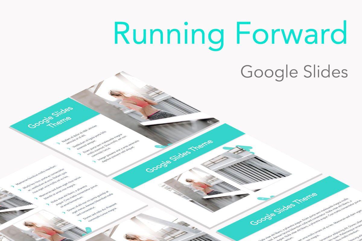 Running Forward Google Slides, 04970, Presentation Templates — PoweredTemplate.com