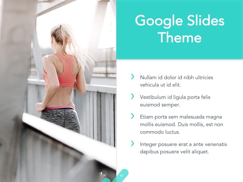 Running Forward Google Slides, Slide 18, 04970, Presentation Templates — PoweredTemplate.com