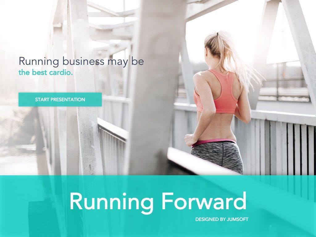 Running Forward Google Slides, Slide 2, 04970, Presentation Templates — PoweredTemplate.com