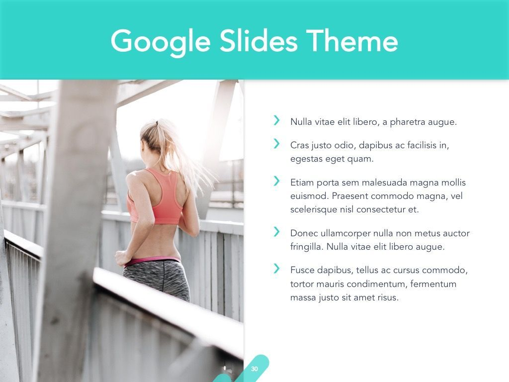 Running Forward Google Slides, Slide 31, 04970, Presentation Templates — PoweredTemplate.com