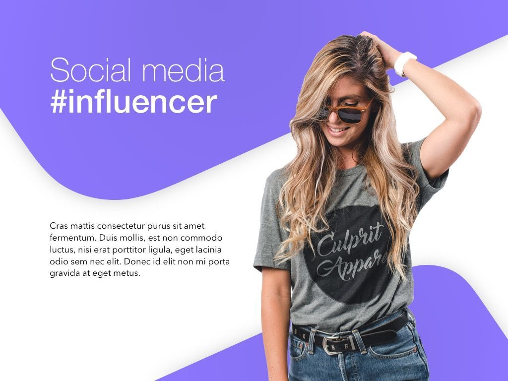 Influencer Marketing PowerPoint Template, Slide 2, 04971, Presentation Templates — PoweredTemplate.com