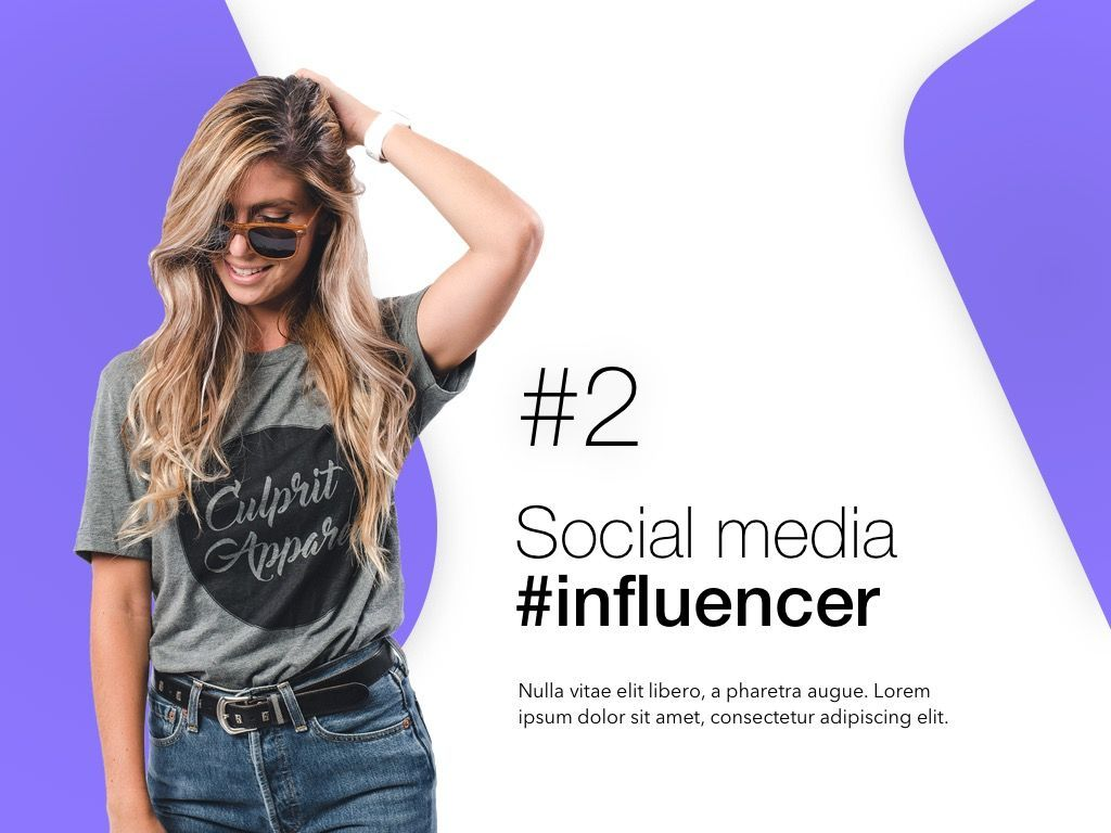 Influencer Marketing PowerPoint Template, Slide 3, 04971, Presentation Templates — PoweredTemplate.com