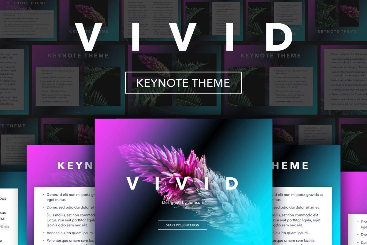 Vivid Keynote Presentation Theme, 04974, Presentation Templates — PoweredTemplate.com