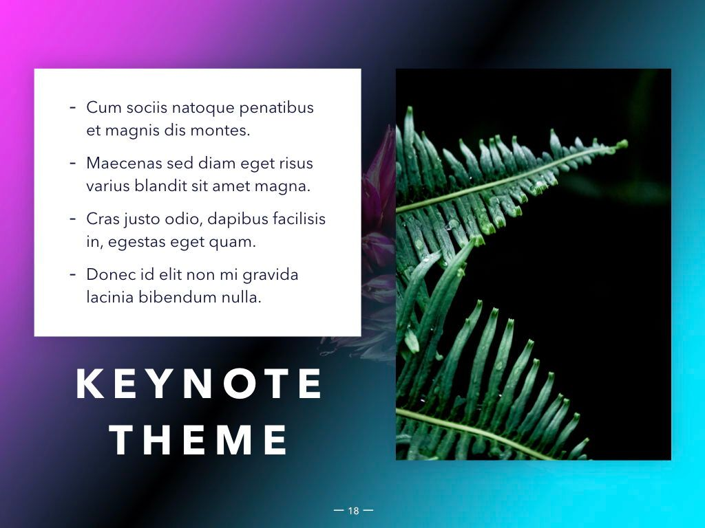 Vivid Keynote Presentation Theme, Slide 19, 04974, Presentation Templates — PoweredTemplate.com