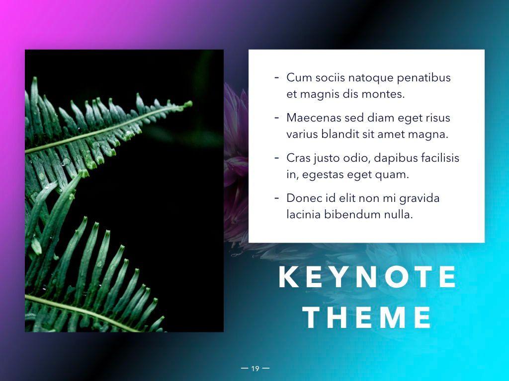 Vivid Keynote Presentation Theme, Slide 20, 04974, Presentation Templates — PoweredTemplate.com