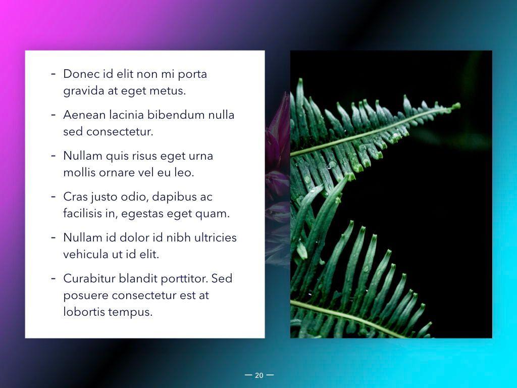 Vivid Keynote Presentation Theme, Slide 21, 04974, Presentation Templates — PoweredTemplate.com