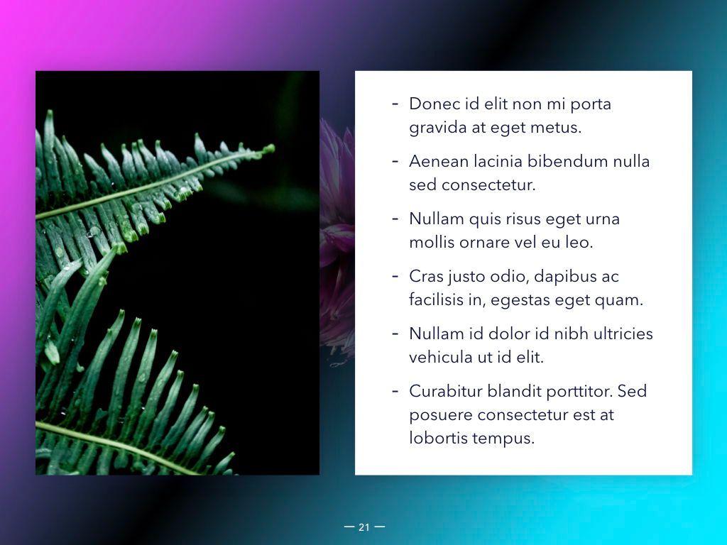 Vivid Keynote Presentation Theme, Slide 22, 04974, Presentation Templates — PoweredTemplate.com