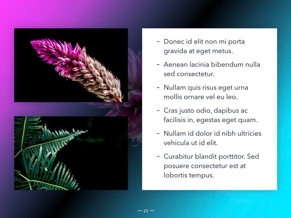 Vivid Keynote Presentation Theme, Slide 24, 04974, Presentation Templates — PoweredTemplate.com