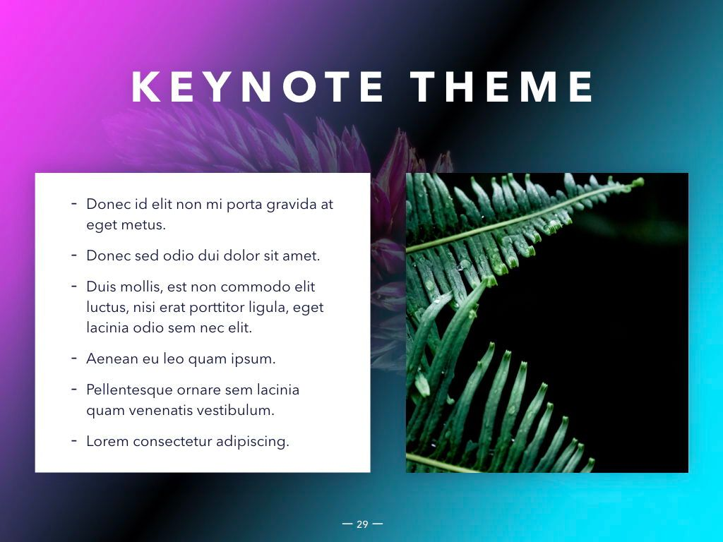 Vivid Keynote Presentation Theme, Slide 30, 04974, Presentation Templates — PoweredTemplate.com