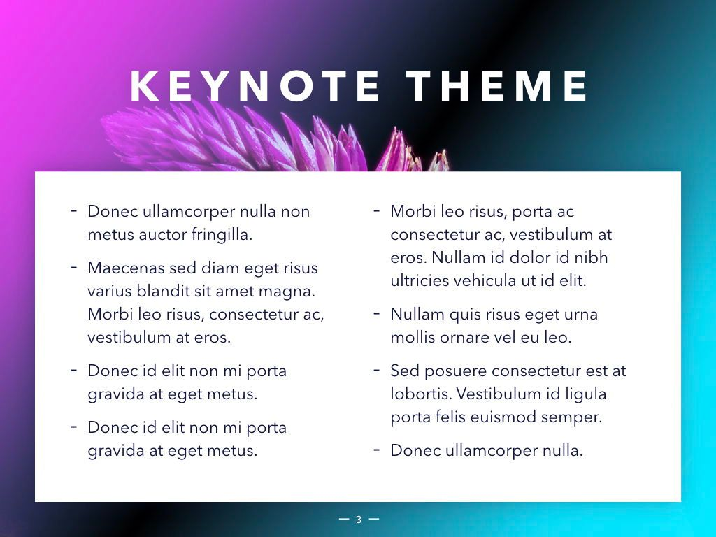 Vivid Keynote Presentation Theme, Slide 4, 04974, Presentation Templates — PoweredTemplate.com
