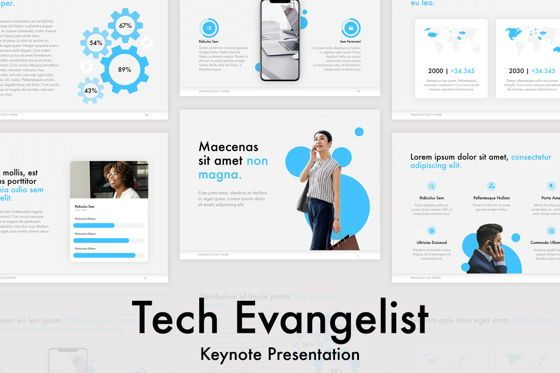 Presentation Templates: Tech Evangelist Keynote Template #04975