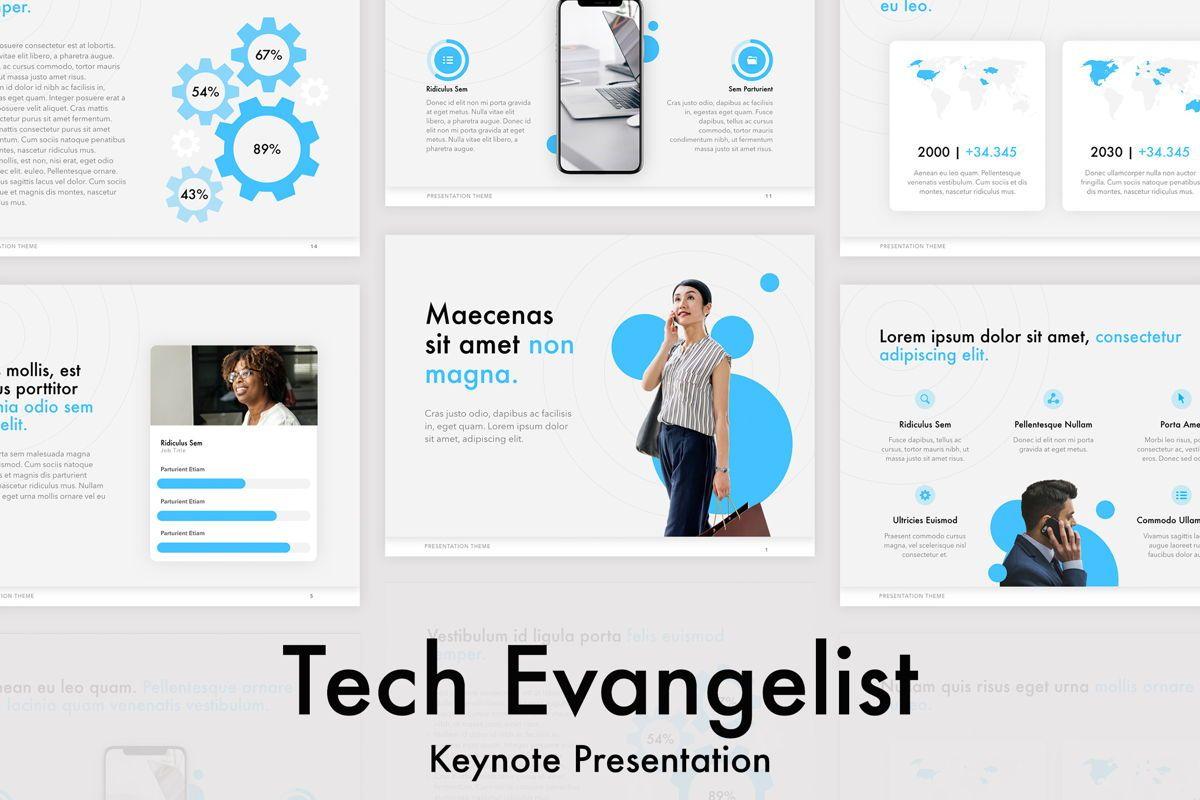 Tech Evangelist Keynote Template, 04975, Presentation Templates — PoweredTemplate.com