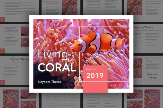 Presentation Templates: Living Coral Keynote Theme #04976