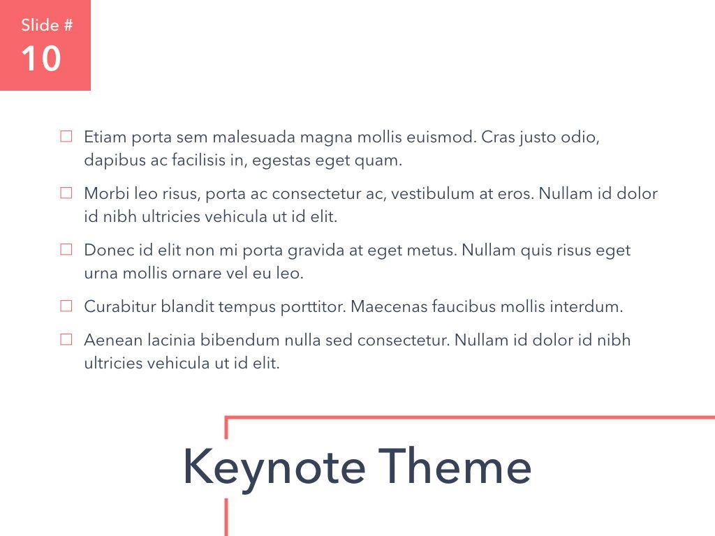 Living Coral Keynote Theme, Slide 11, 04976, Presentation Templates — PoweredTemplate.com