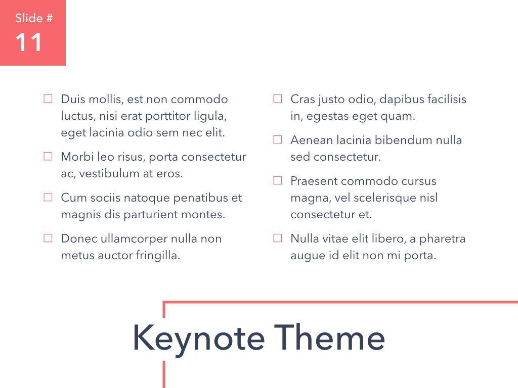 Living Coral Keynote Theme, Slide 12, 04976, Presentation Templates — PoweredTemplate.com
