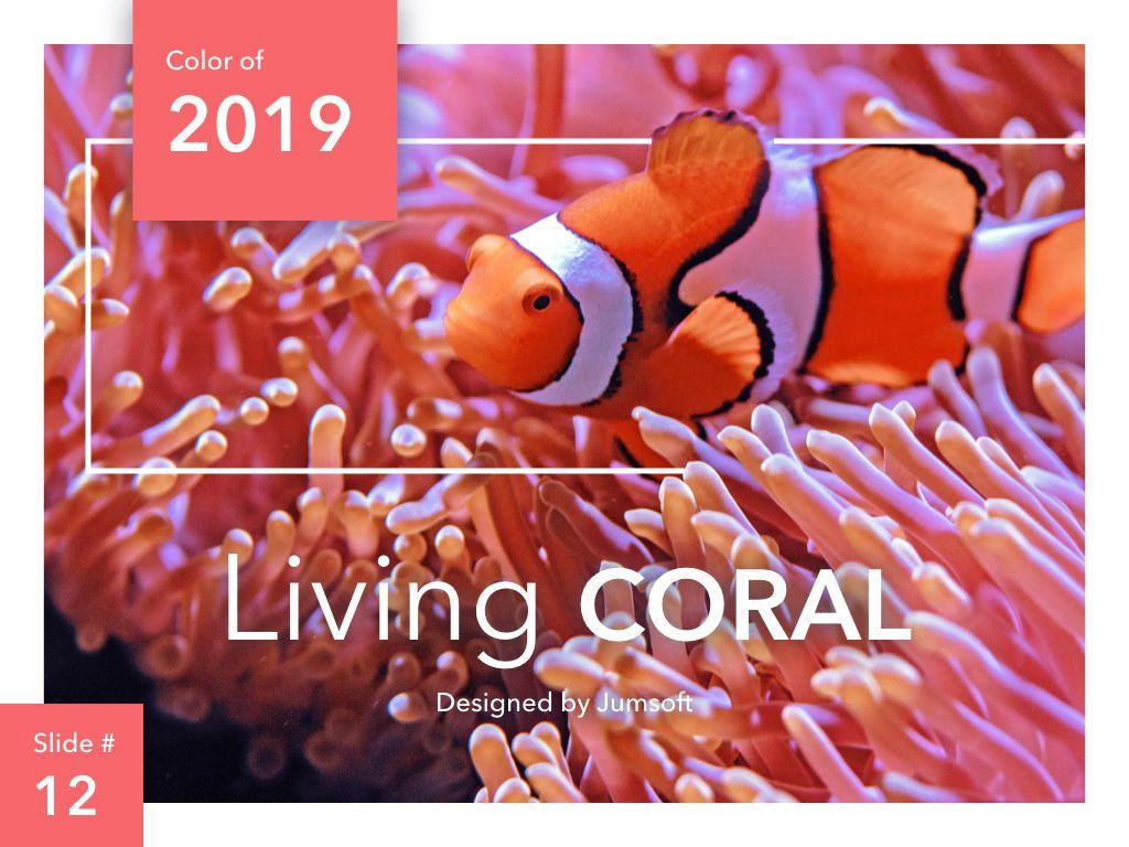 Living Coral Keynote Theme, Slide 13, 04976, Presentation Templates — PoweredTemplate.com